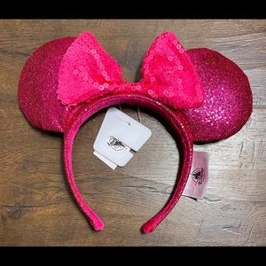 Disney Parks Minnie Mouse Ears Hot Pink